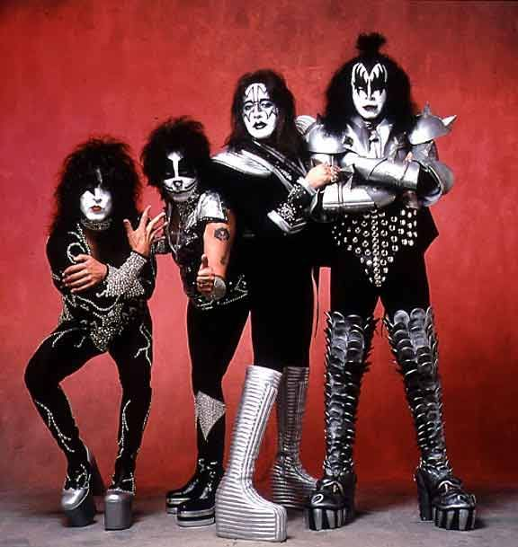 I wanna rock n roll all night, and party every day!    A KISS concert was the first concert I went to. Sat up in the nose bleed section.  Everyone laughed at me when I pulled out my binoculars, but were begging to use them by the end of the concert!  Aaaawwww, what a great night!