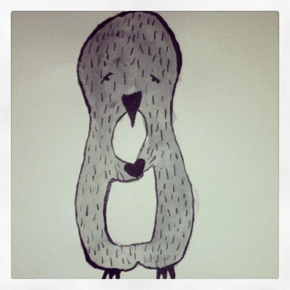 Greeting card brief. #illustration #penguin #cute #heart