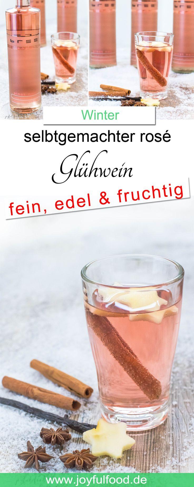 Rezept für Selbstgemachten rosé Glühwein. Ein edler, feiner und fruchtiger Genuss passend zur Weihnachtszeit und im Winter. #glühwein #glühweinrezept #weihnachtszeit #advent #weihnachten #silvester #heiligabend #getränke #heißegetränke #gemütlich #Wein #rose #Weihnachtsmarkt #rezept