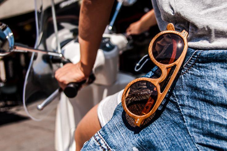 Let's go to ride with BATTILA wooden sunglasses... www.facebook.com/battilaconcept