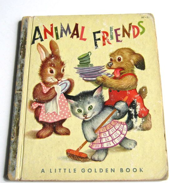"Vintage Little Golden Book ""Animal Friends"""