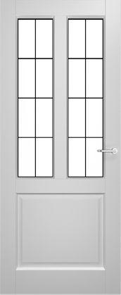 2adore binnendeur Gladiolus met glas-in-lood Lemon 12 jaar garantie