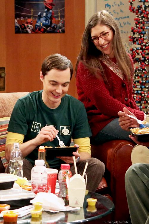 Jim Parsons and Mayim Bialik as Sheldon & Amy from The Big Bang Theory (2007-present)