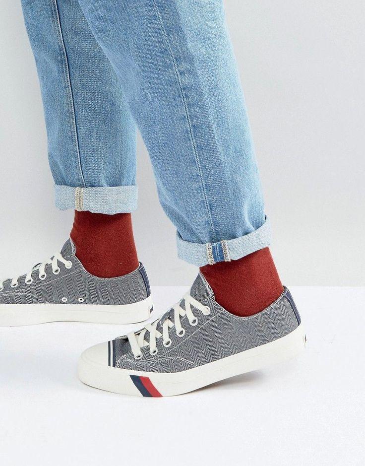 Pro Keds Low Herringbone Sneakers - Navy