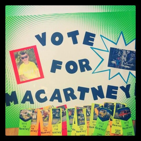 Poster and homemade bookmarks for Macartney's run for 3rd ...