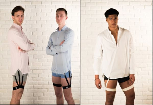 Garter Belt-Like Accessory for Men Keeps Your Shirt Tucked in at All Times - A Sloveniandesigner frustrated with constantly having to re-tuck his shirt into his pants has created a garter-belt-likeshirt holder for men that keeps the wearer's shirt tucked in at all times. The S-Holder is work around …