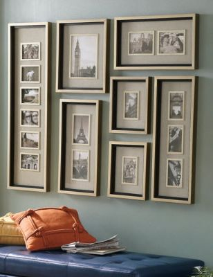 Effortlessly fill the wall with a cohesive arrangement of your favorite photos.