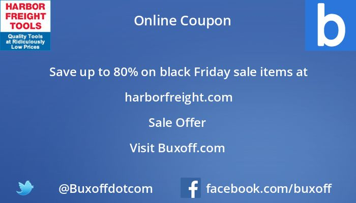 Latest harbor-freight Coupon on Buxoff Visit to know more