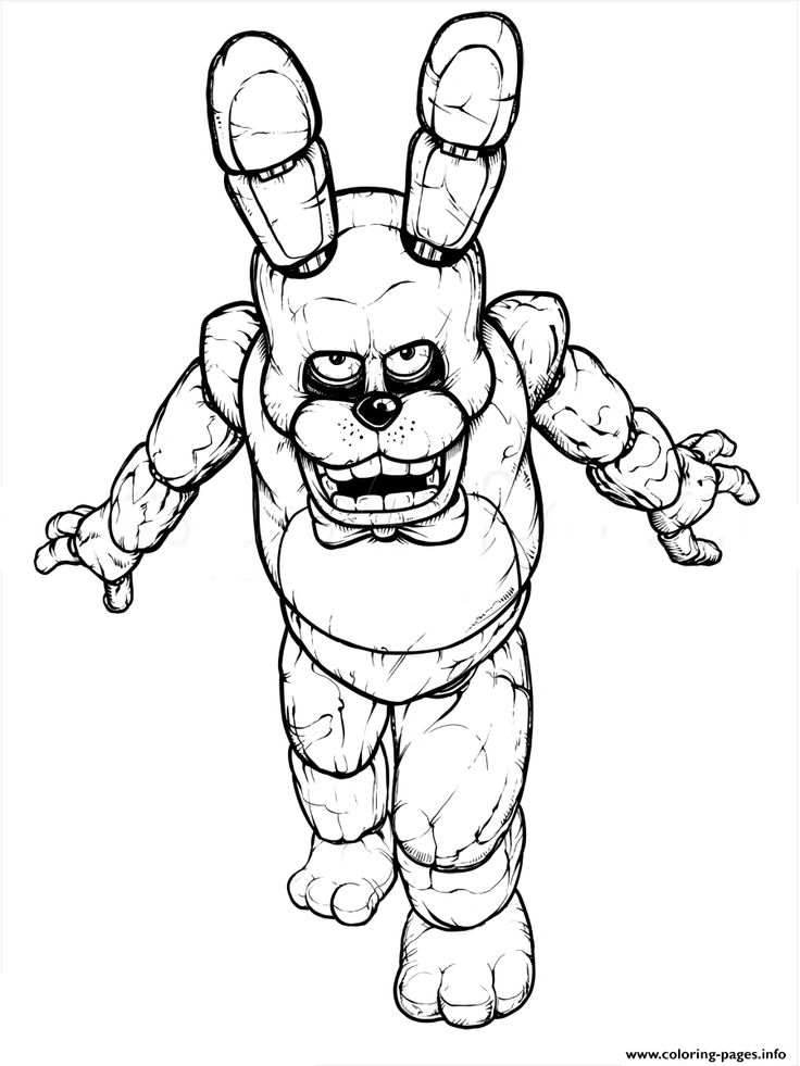 Fnaf Freddy Five Nights At Freddys Free To Print Coloring Pages Printable And Book For Find More Online Kids
