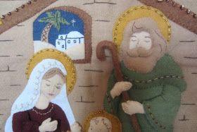 No queremos esperar a última hora -Eva Mª ya tiene terminado su Nacimiento,cosido con primor,es en fieltro y de BUCILLA  Feliz semana....