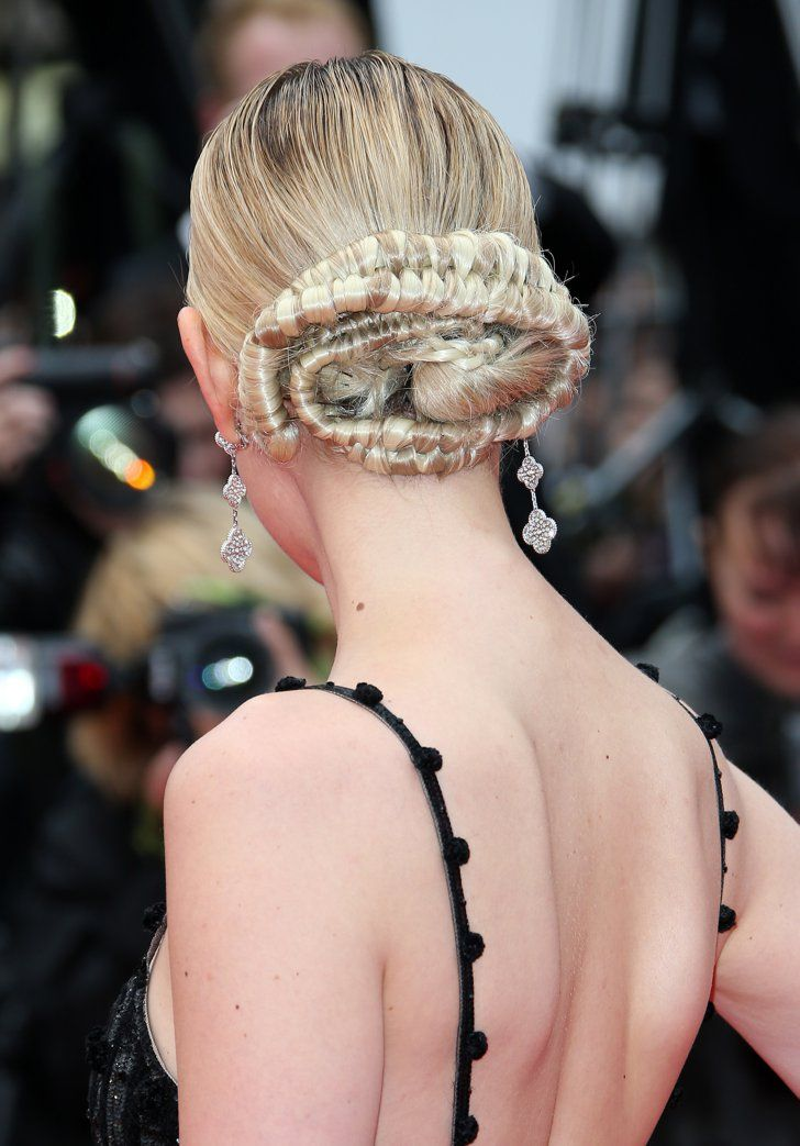 Pin for Later: The Most Glamorous Cannes Beauty Looks of All Time Jess Weixler, 2014 We couldn't take our eyes off Jess's intricate twisted updo at the Foxcatcher premiere.