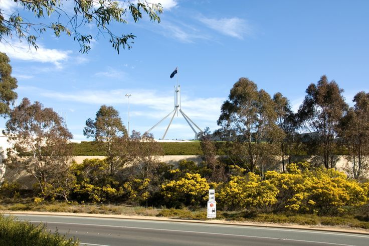A road in front of Parliament House, Canberra, Australia www.spinecentre.com.au
