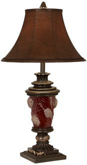 23 best rustic lighting images on pinterest rustic lighting pinecone table lamp with nightlight available at cabin creations in phillips wi www mozeypictures Choice Image