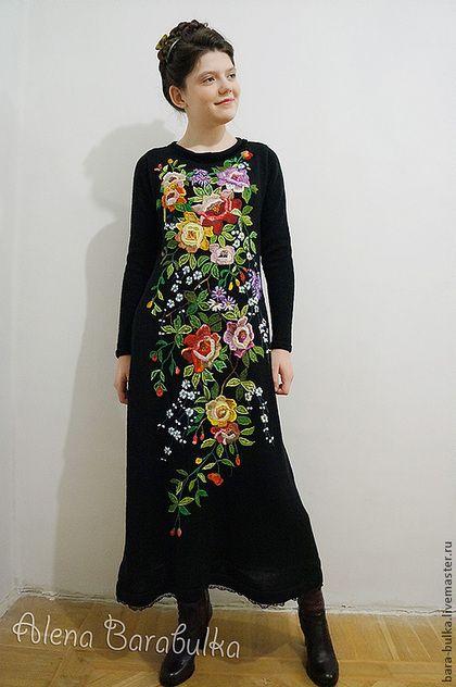 """Платья ручной работы. Ярмарка Мастеров - ручная работа Платье нарядное с вышивкой """"Розы для любезницы"""". Handmade."""