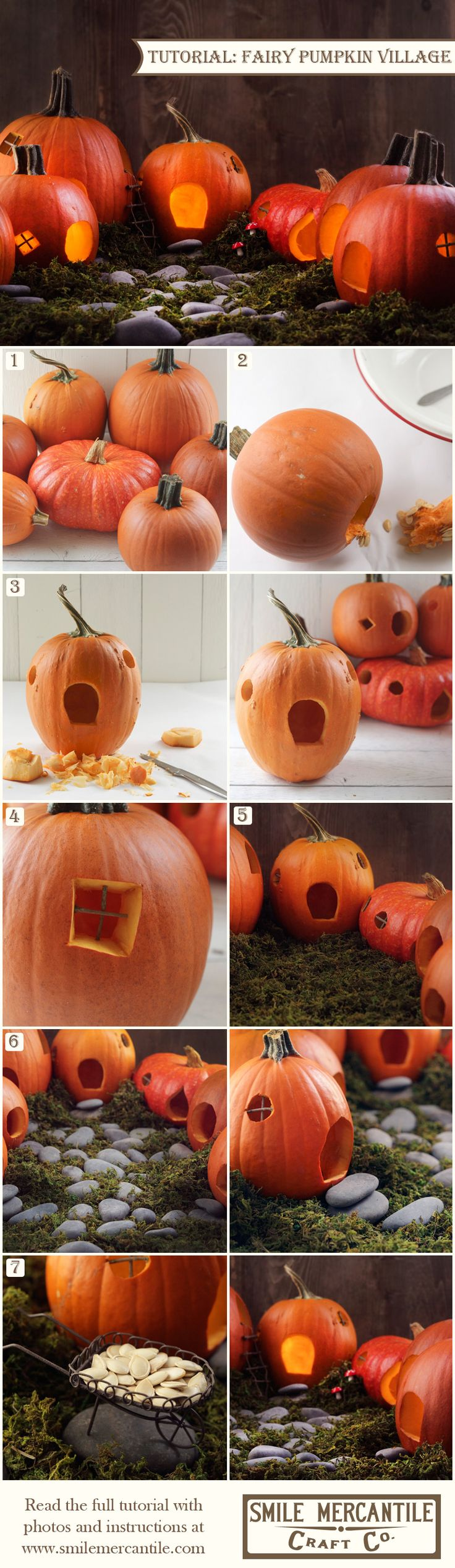 41 best images about smile mercantile craft tutorials on for Fairytale pumpkin carving ideas
