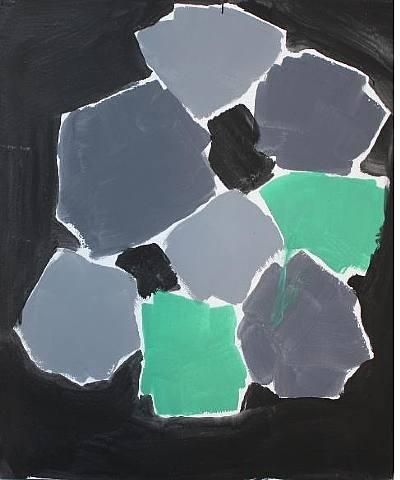Günther Förg abstract art grey green