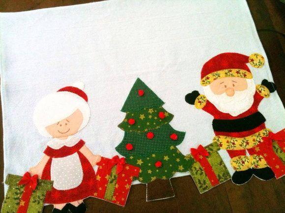 Pano de copa Natal, barra toda recortada. Tecido 100% algodão. As cores dos tecidos podem alterar de acordo com a disponibilidade. R$ 29,90