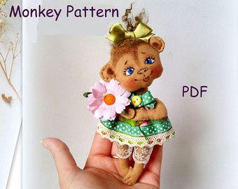 PDF Pattern Waldorf Monkey Doll by LaliDolls on Etsy
