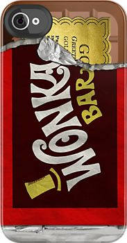 Wonka Bar phone cover // I need this!