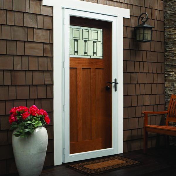 Andersen Storm Door 32 X 80 Interchangeable Glass 10 Series In 2020 Aluminum Storm Doors Andersen Storm Doors Full View Storm Door