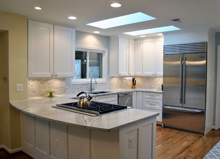 Beautiful White Kitchen Remodel In McLean, Virginia With Super White  Quartzite Countertops.