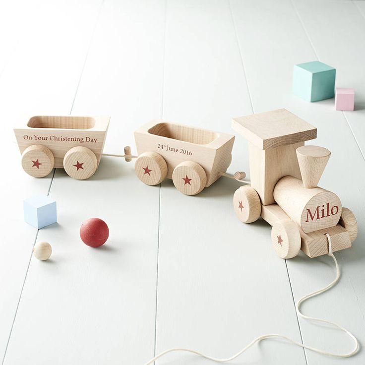 personalised wooden train set by jonny's sister | notonthehighstreet.com
