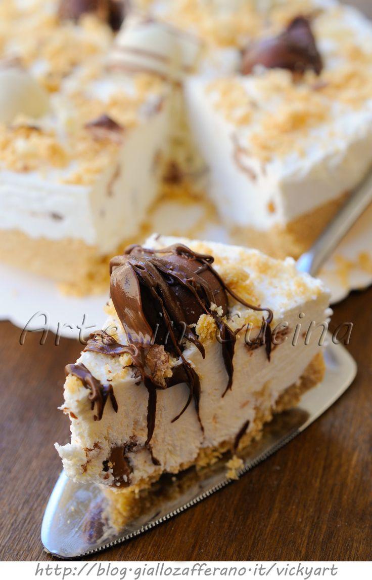 Torta fredda kinder bueno bianco e cioccolato vickyart arte in cucina