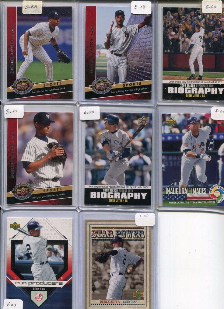 8 Card Upper Deck Insert Lt Derek Jeter Biography Inaugural Images Star Power