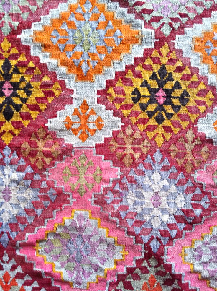 Ibiza style pattern | fabric | colorful home deocration | inspiration living color