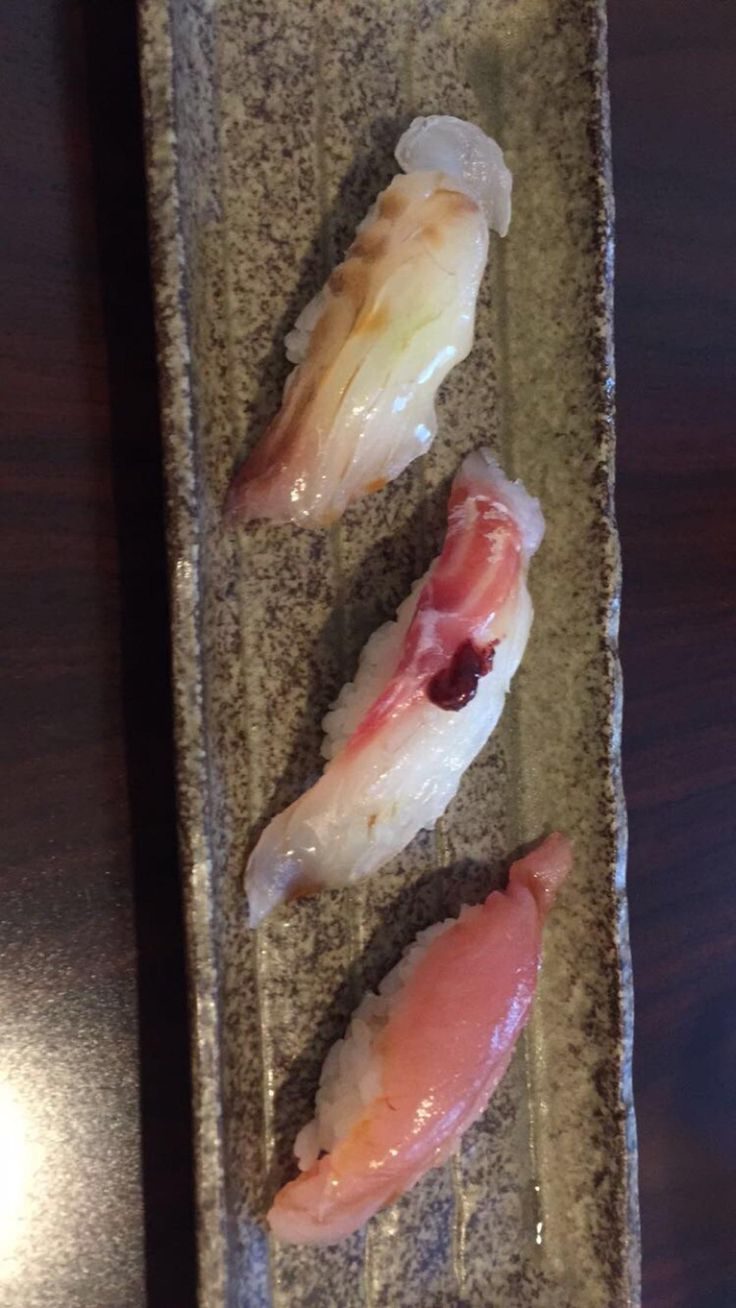 I had the omakase at Shiro's in Seattle but I having trouble remembering the different types of fish these are. Can somebody help me? #sushi #food #foodporn #japanese #Japan #dinner #sashimi #yummy #foodie #lunch #yum