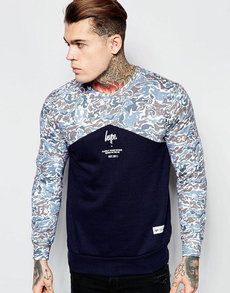 Image 1 of Hype Sweatshirt With Camo Yoke