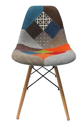 Masteritem silla r plica eames tower dsw patchwork ver for Reproduction chaise dsw
