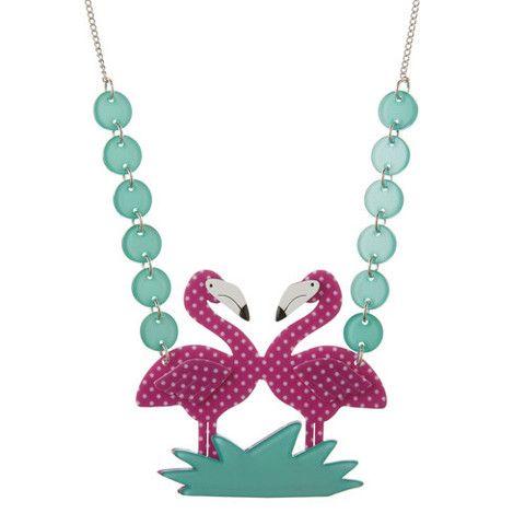 Erstwilder Limited Edition Flamboyant Flamingo Fair  Necklace, $44.95 (AUD)