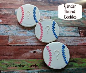 It's a boy! The Cookie Puzzle: Baseball Gender Reveal Cookies