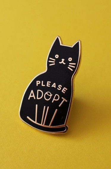 Life Lesson Enamel Pin - Adopt A Cat | forLincoln forlincoln.com/collections/jewelry
