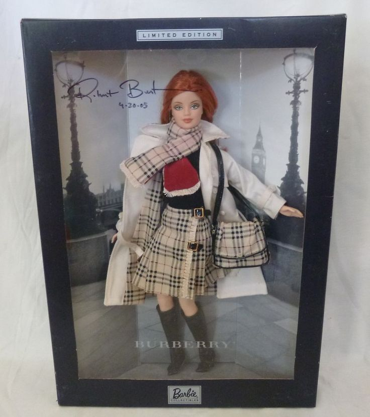 Barbie burberry limited edition plaid outfit signed robert best 4/05 NRFB #Mattel #Dolls