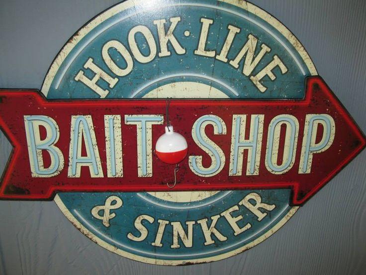 Bait shop got sign at cracker barrell vintage fishing for Vintage fishing signs