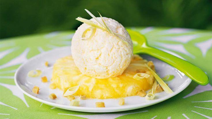 Egzotyczne lody ananasowe. Kuchnia Lidla - Lidl Polska. #lody #lidl