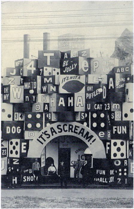 The Domino House. Wish I knew more about this photo.  It really is a scream!