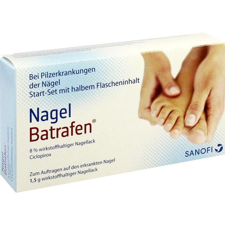 NAGEL BATRAFEN Start Set Lösung gegen Nagelpilz:   Packungsinhalt: 1.5 g Lösung PZN: 03783014 Hersteller: Sanofi-Aventis Deutschland GmbH…