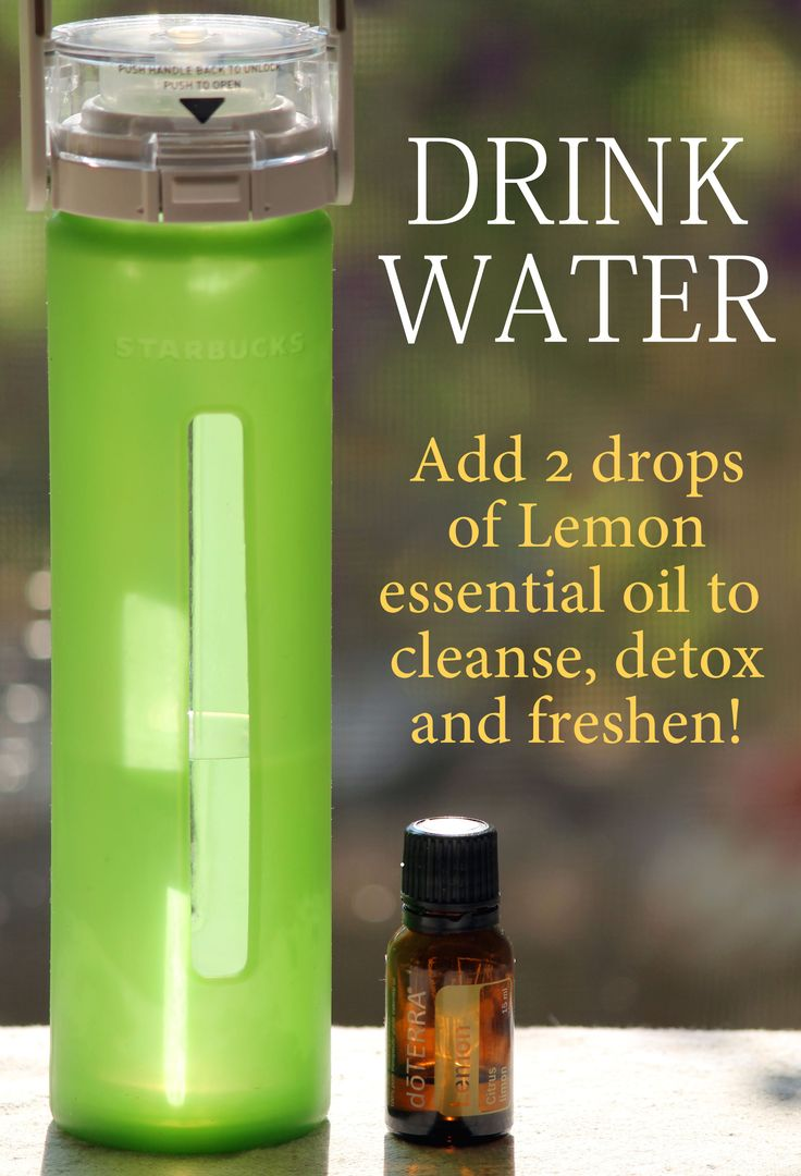 Make your water healthy & deliciously fresh with Lemon essential oil!