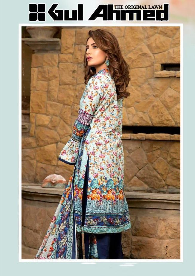 f3229a6492 GUL AHMED LAWN VOL 1 PRINTED LAWN COTTON DRESS MATERIAL COLLECTION AT  WHOLESALE RATE