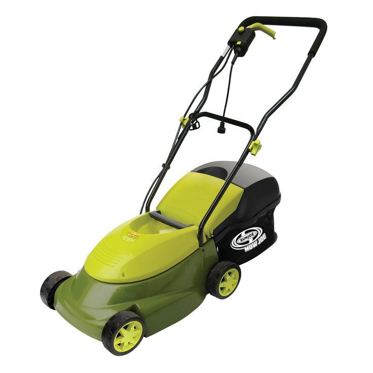 Sun Joe MJ401E-PRO Mow Joe Pro Series 14-inch 13-Amp Electric Lawn Mower with Side Discharge Chute