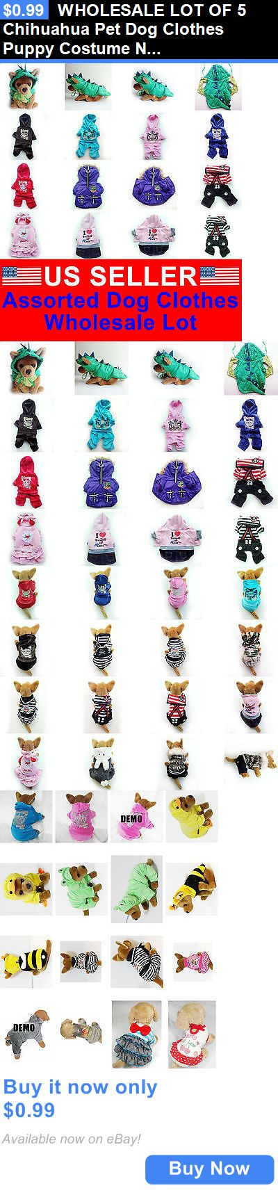 Cute Animals And Animals Stuff: Wholesale Lot Of 5 Chihuahua Pet Dog Clothes Puppy Costume New Apparel Girl L BUY IT NOW ONLY: $0.99