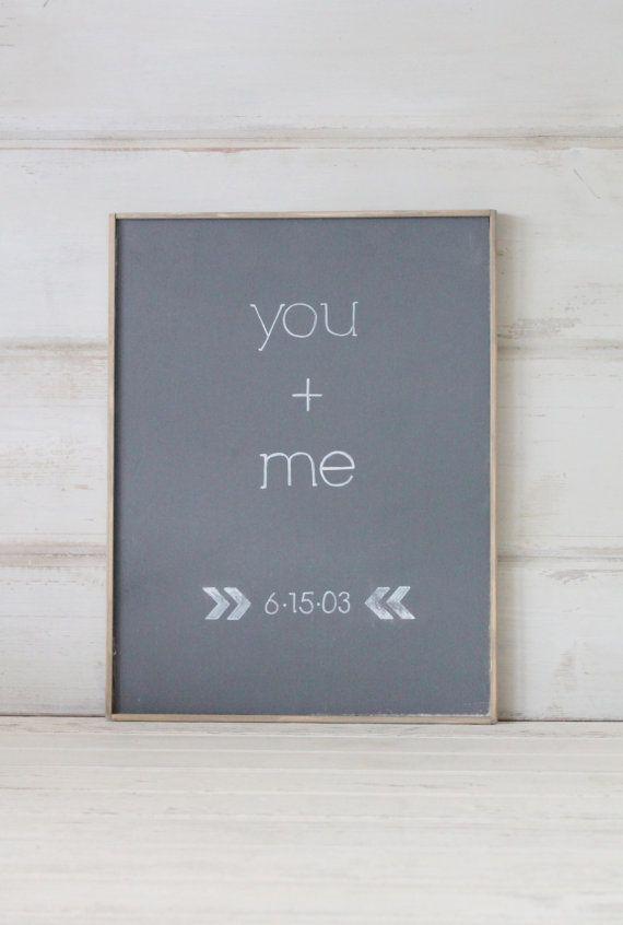 Rustic Custom Wedding Sign-You & Me
