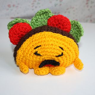 Shopkins Taco Terrie pattern by Jen Smith Shopkins crochet pattern Diy Shopkins