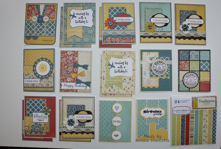 19 cards from Carta Bella - Traditions 6x6 paper pad. | by eponinekc