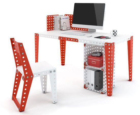 Retro kids room: Meccano Home children's furniture range