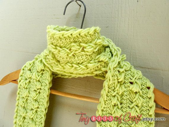 Hairpin lace scarf Spring Green Scarf feminine by TinyBitsOfCraft