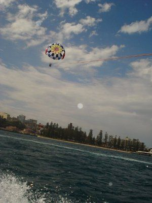 Manly parasailing